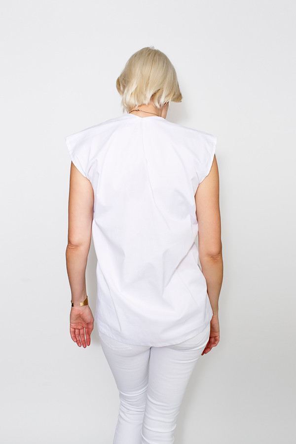 Miranda Bennett Everyday Top, Poplin in White