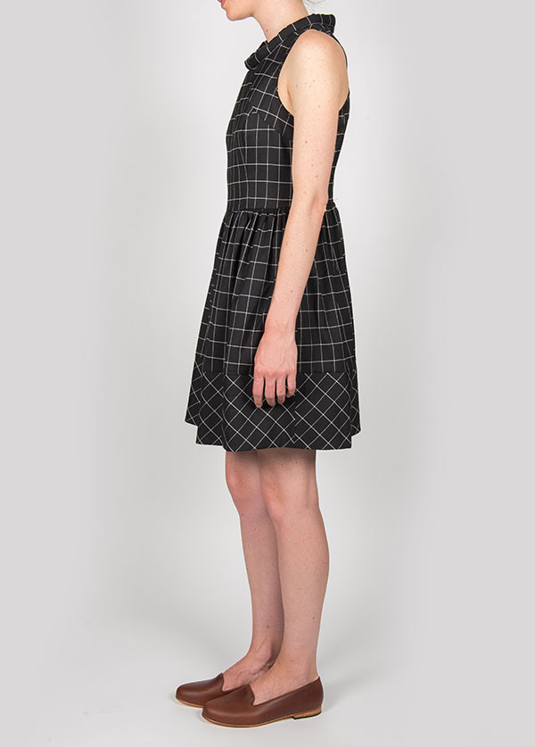 Harlyn - Francine Racer Back Dress in Black Plaid