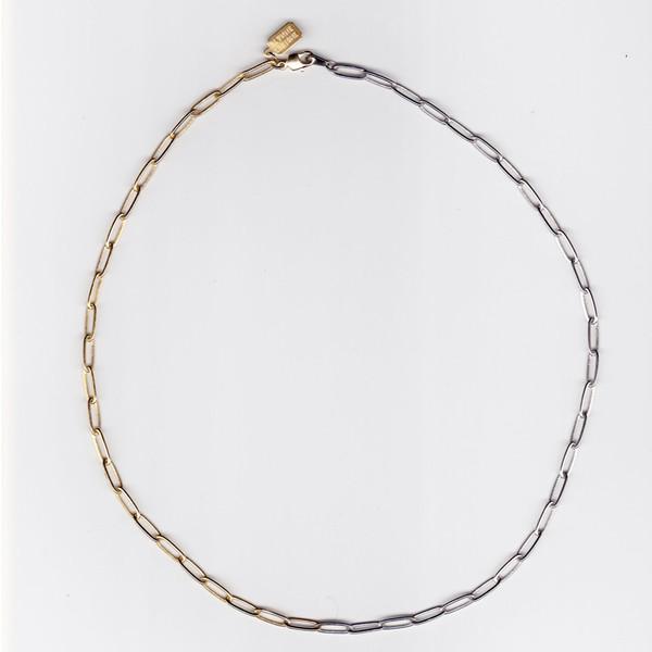 ALYNNE LAVIGNE - Two Tone Rectangle Chain