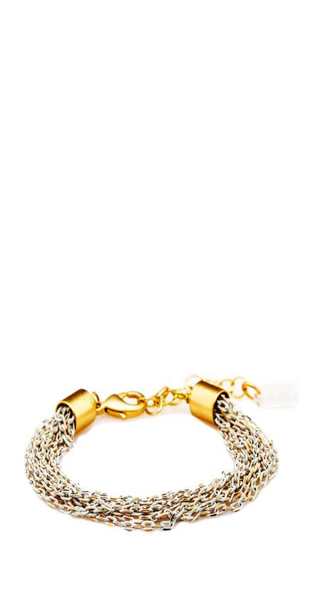 Grayling Menara Bracelet in White/Gold