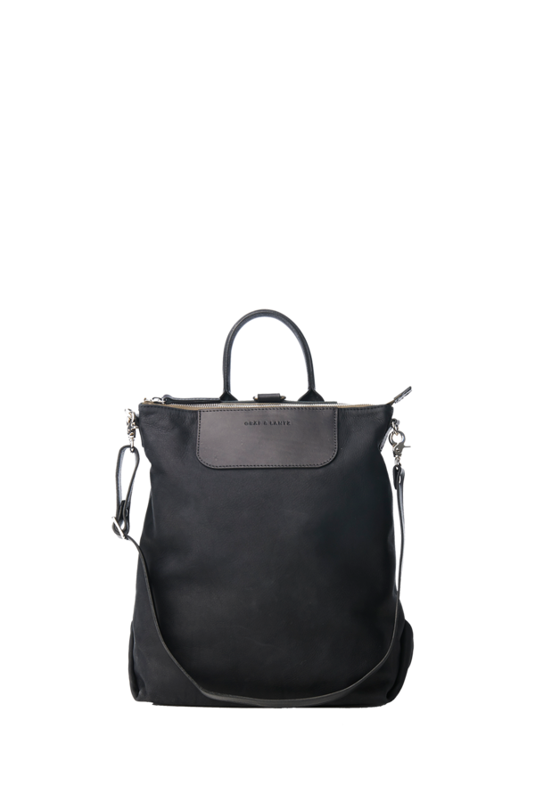 Bedford convertible Backpack black nubuck