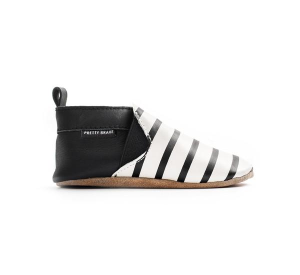 Pretty Brave Slip-On Black And White Stripes
