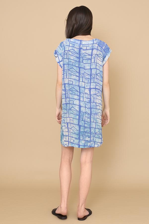 Osei-Duro Deni Raglan Dress in Waterbolt