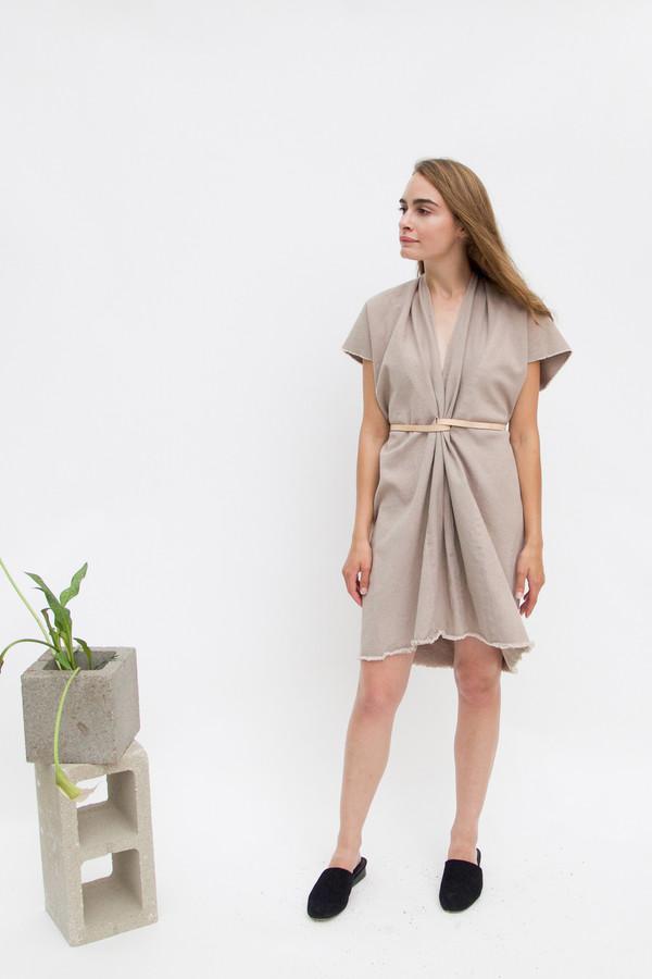 Miranda Bennett Tribute Dress, Denim in Dove