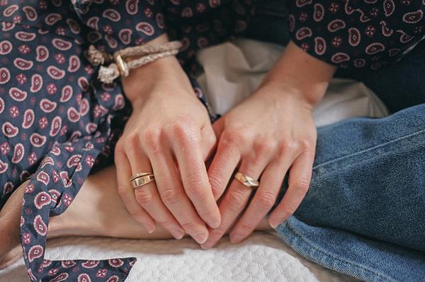 Erin Considine Sliver Ring in Brass