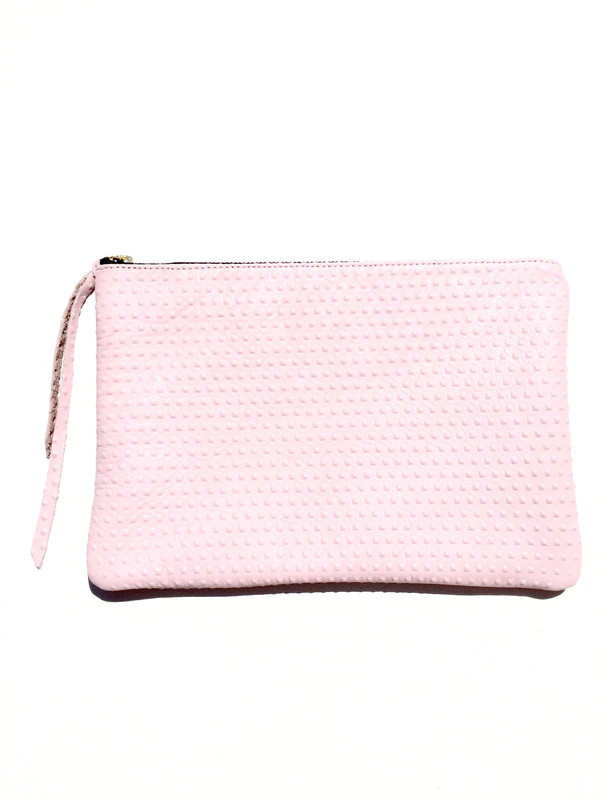 OLIVEVE queenie in pink divot cow leather
