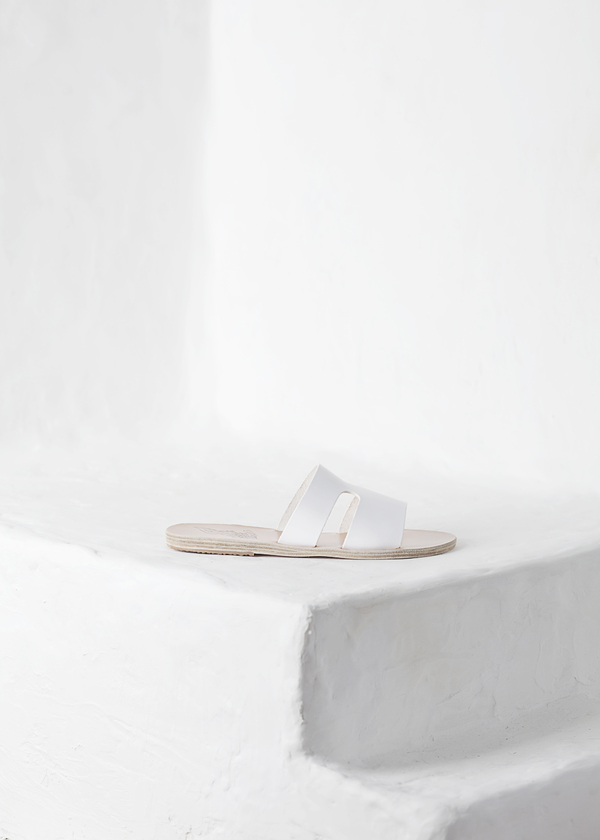 Ancient Greek Sandals Apteros - white