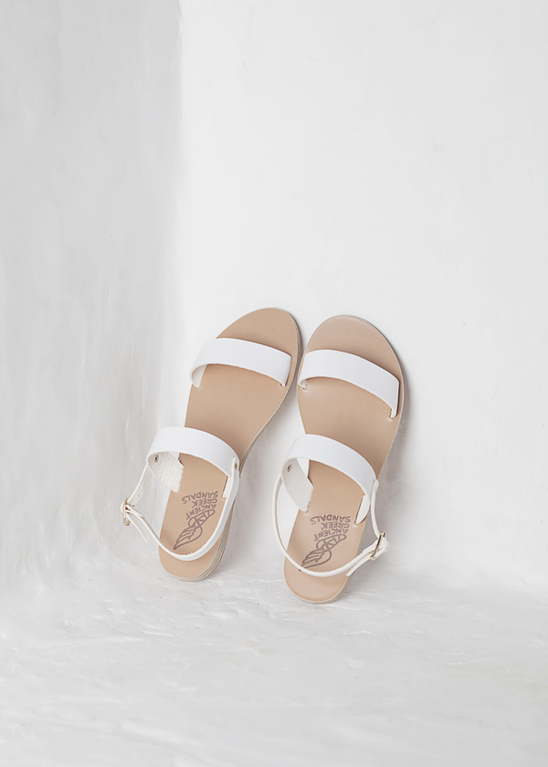 Ancient Greek Sandals Clio - white