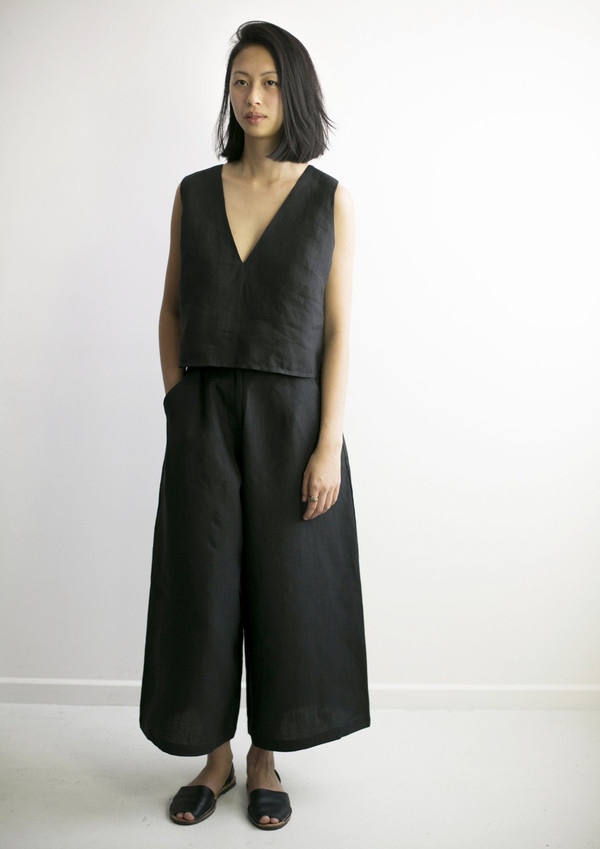 GOOD STUDIOS WOMENS HEMP LINEN WIDE PANT