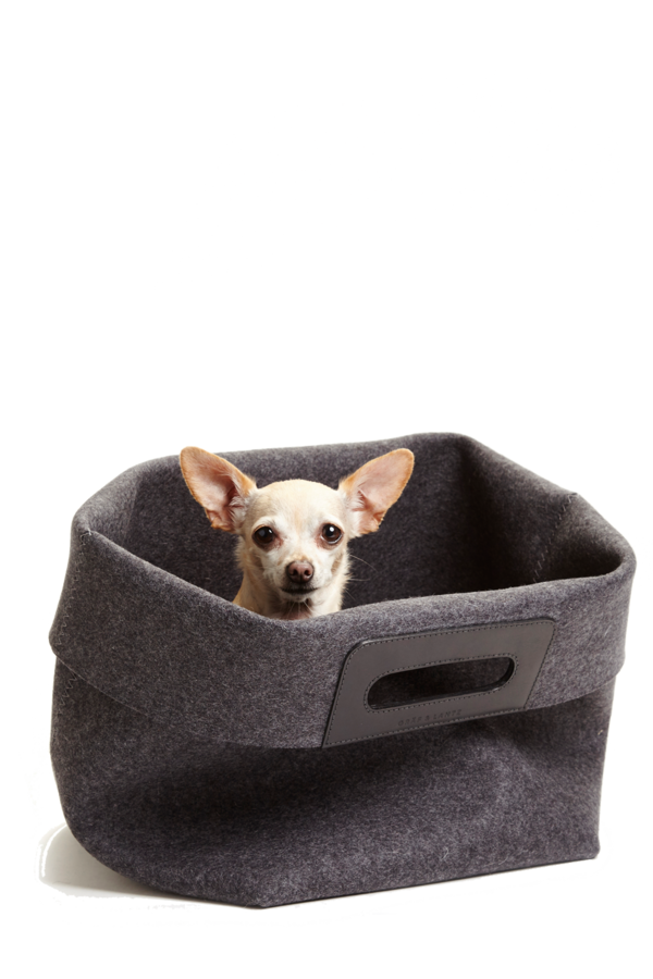 KORB Charcoal Wool Felt Basket