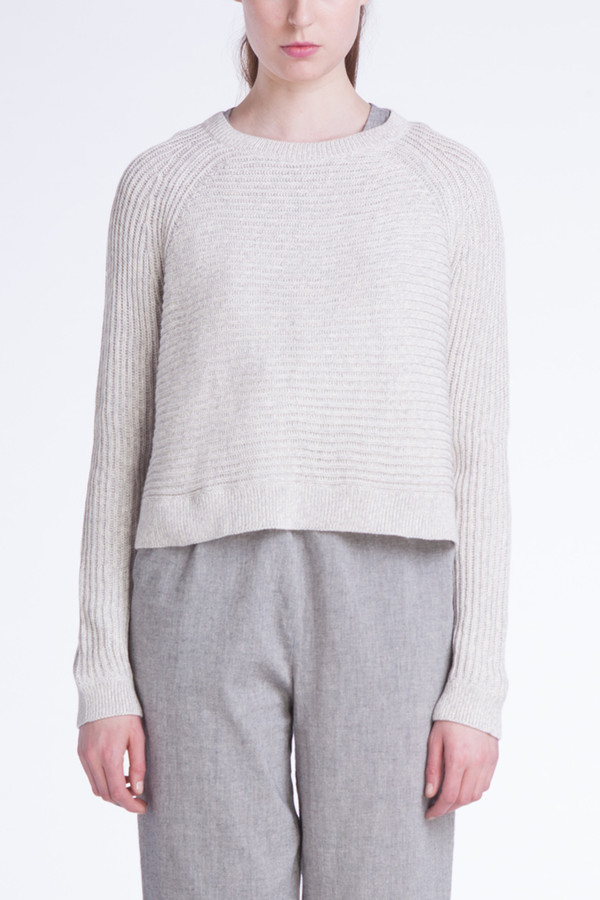 Ali Golden Grey melange sweater