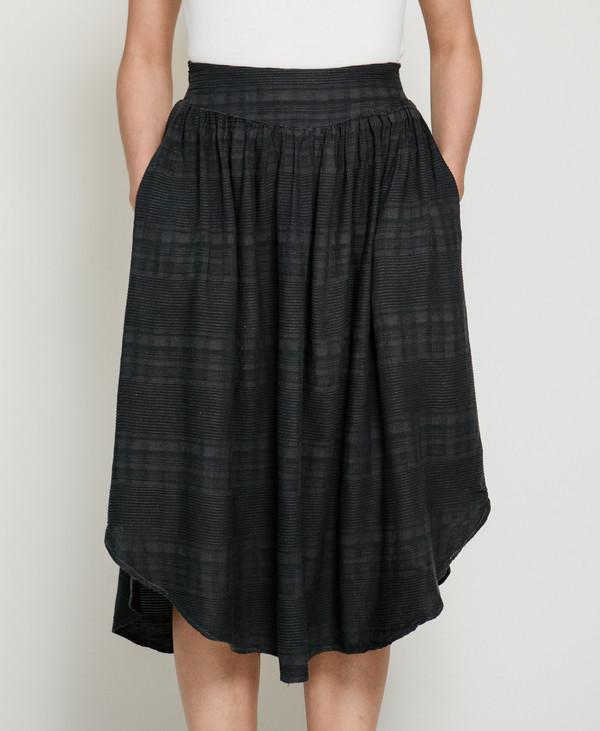 Nico Nico Joplin Textured Skirt in Liquorice