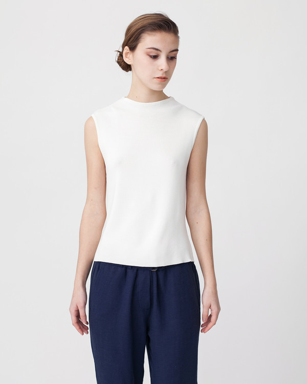 Achro Linen Knit Top With Folded Sides