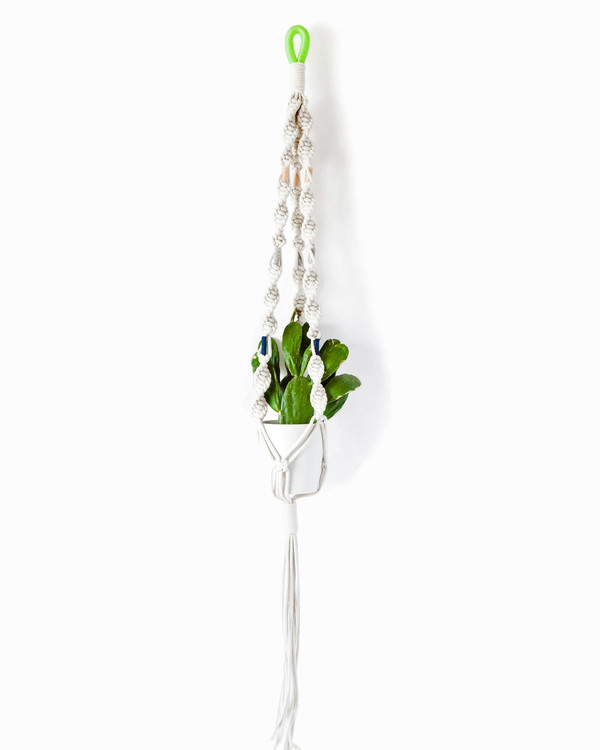Cold Picnic Macrame Plant Hangers in Colorblock Hawai