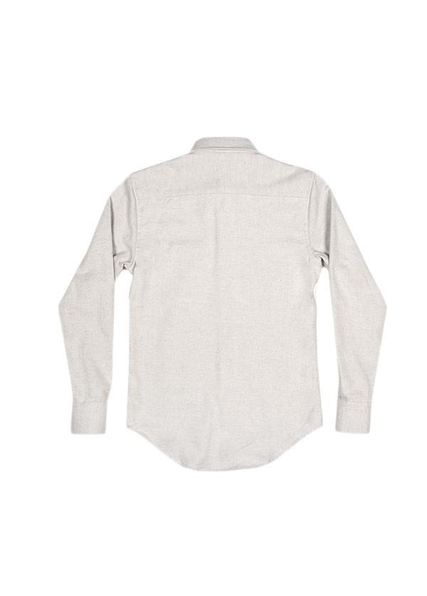 Men's Naked & Famous Denim - Regular Shirt in Heavy Brushed Twill Winter Grey