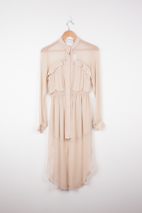 Shakuhachi Angle Pocket Overlay Dress