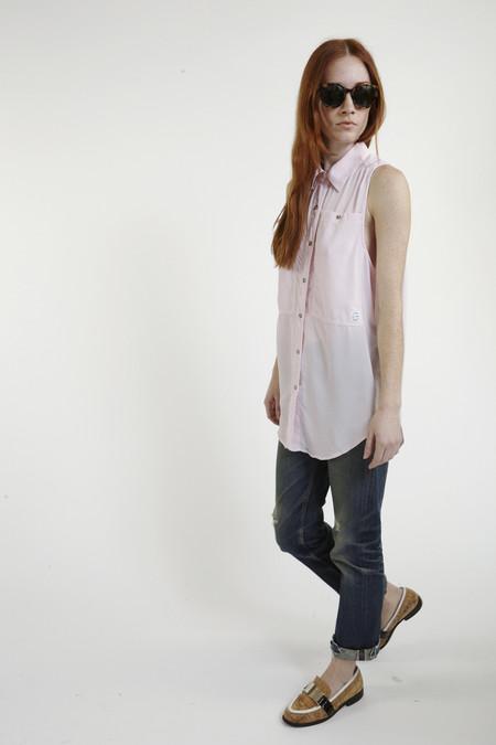 LF Markey Oscar Silk Workshirt in Pink