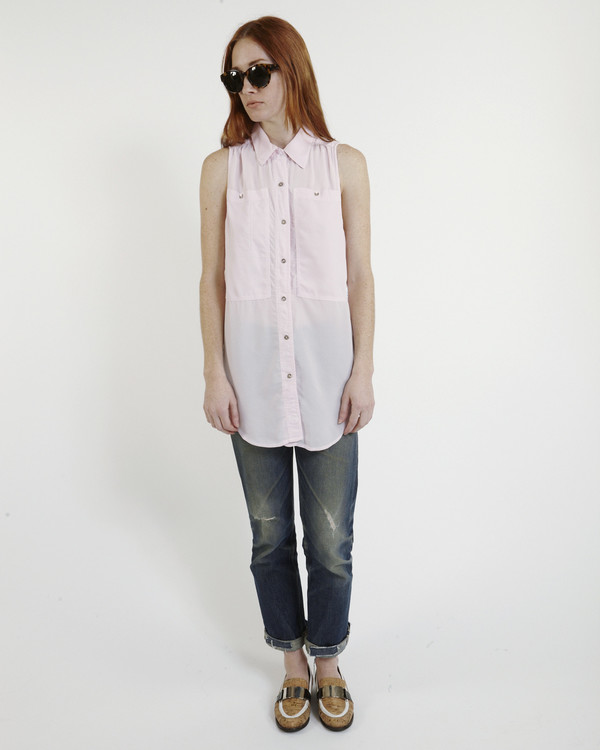 LF Markey Oscar Silk Workshirt in Pink
