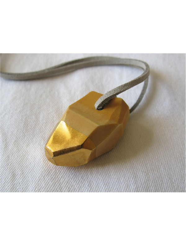 Signe Yberg Porcelain Nugget Necklace in Ochre