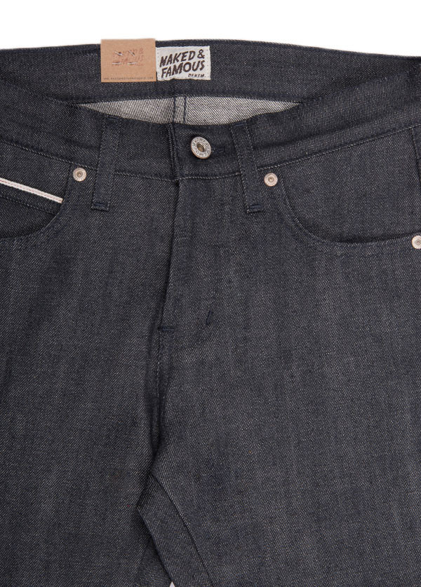 Men's Naked & Famous Denim - Skinny Guy in Charcoal Selvedge