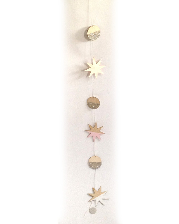 The Great Lakes Goods Stars and Full Moons Large Garland - F&F Exclusive