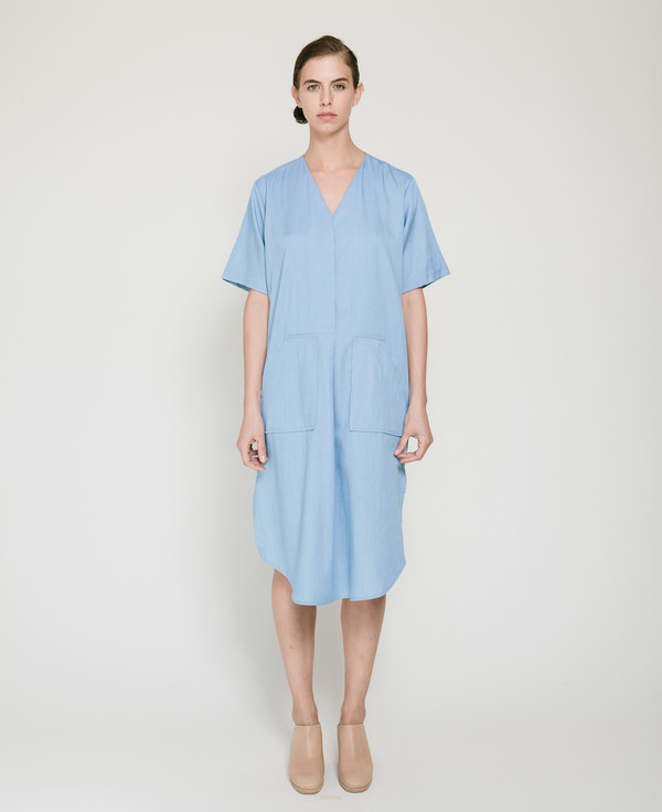 Achro Tencil Denim Dress in Light Blue
