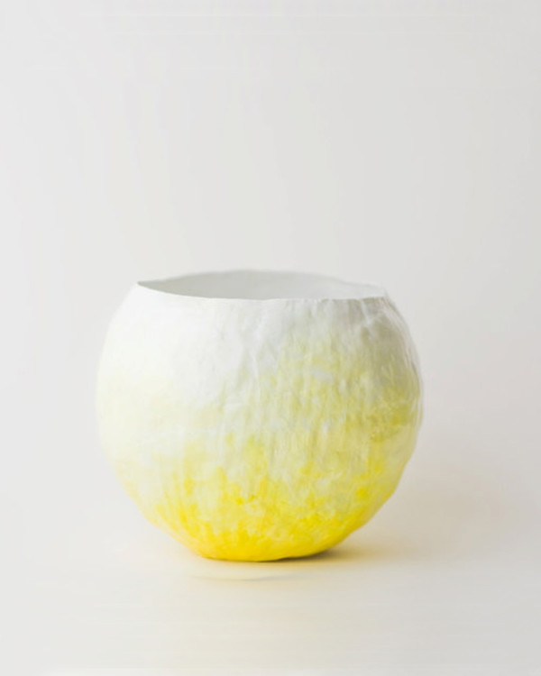 Up in the Air Yellow Fade Vessel