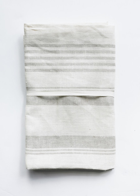 Le Fil Rouge - Bath Sheet in Natural Multi Striped