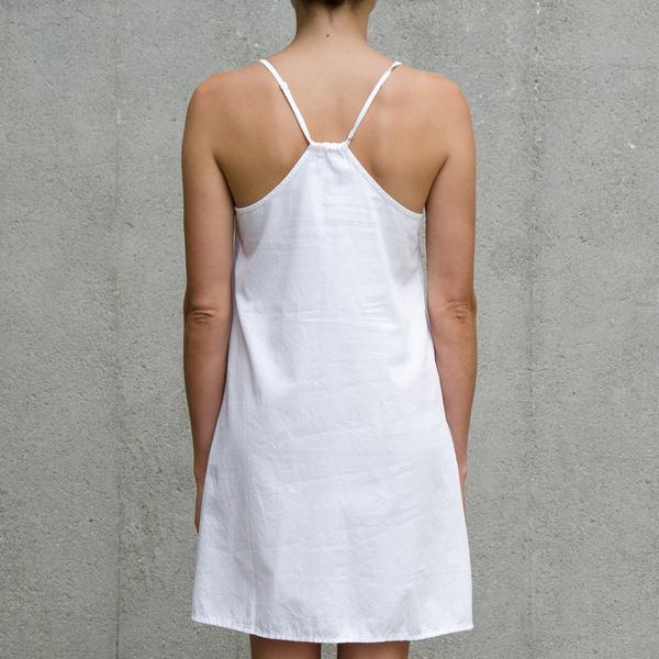 ALI GOLDEN SLIP DRESS - WHITE