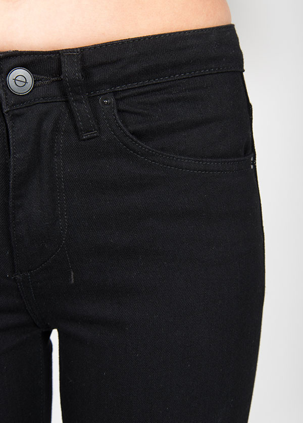Objects Without Meaning - Hi-Rise Skinny Jean in Black Twill