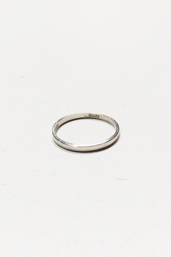 L. SHOFF Sterling Silver Simple Band