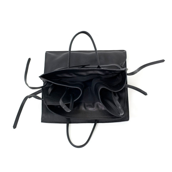 Four Sided Rectangular Bag in Black