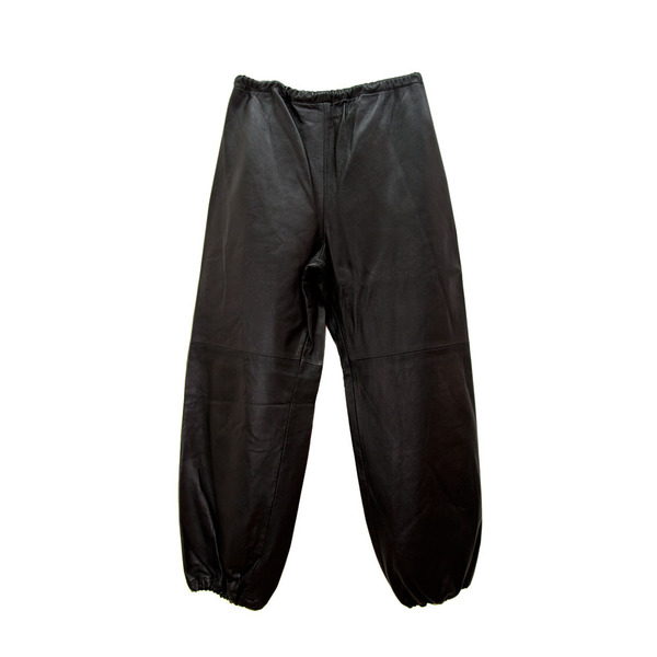 Leather Sweatpants in Grey