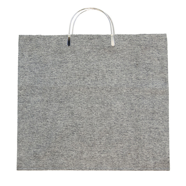 Metal Clip Handle Bag in Wool Melton
