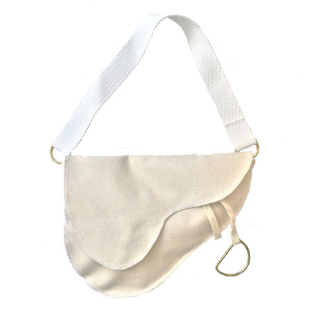 Slow and Steady Wins the Race Saddle Bag with White Handle in Small
