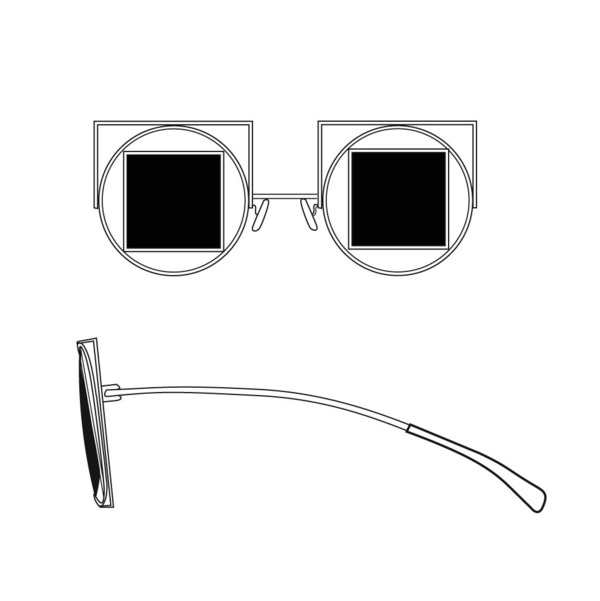 Square-Circle-Square Sunglasses