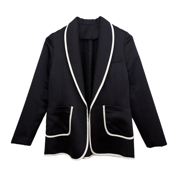 Tuxedo Jacket Shawl Collar in Black