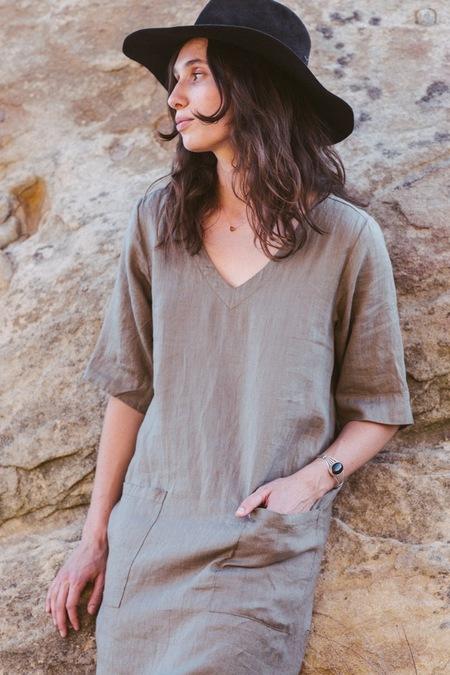 Sugar Candy Mountain Faustine Dress - Sage
