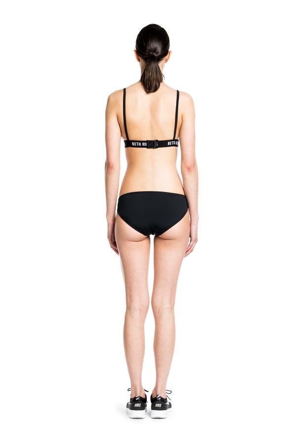 Beth Richards  Amber Top - Black/White Triangle Bikini Top