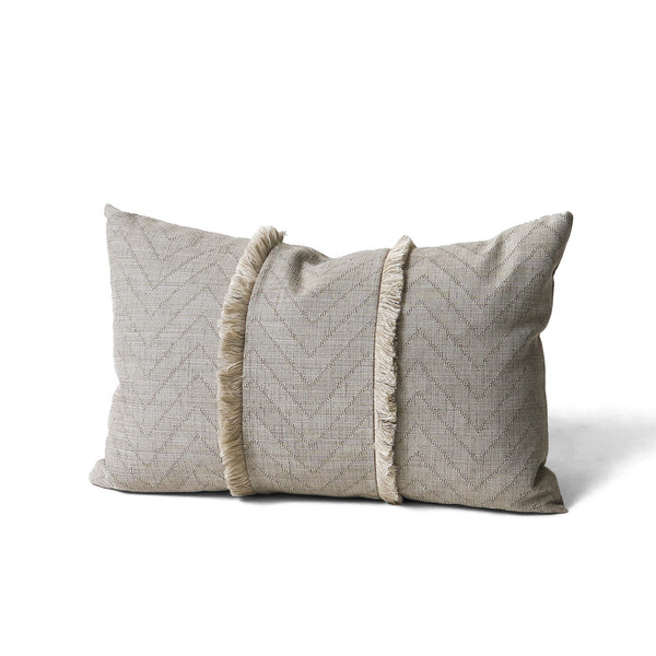 Erica Tanov fringed throw pillow