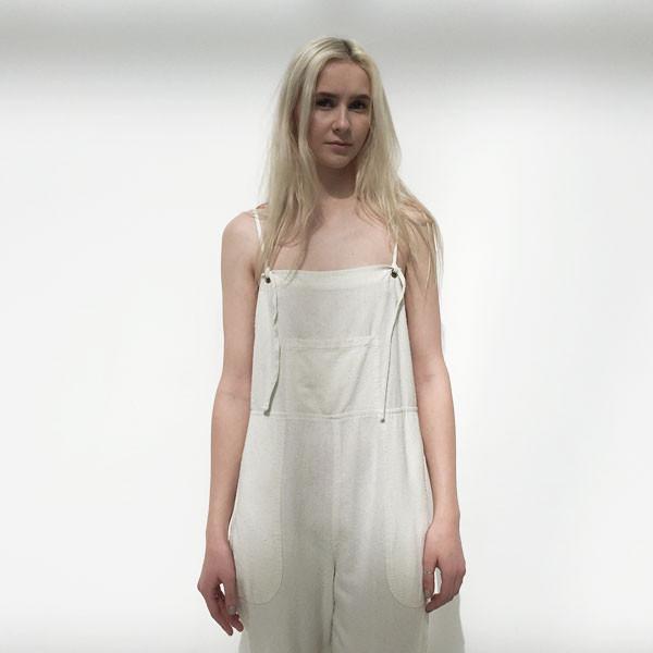 LACAUSA - Raw Silk Overalls