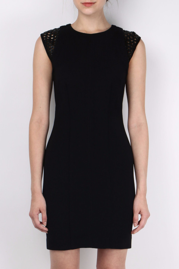 Kempner Cage Shoulder Dress