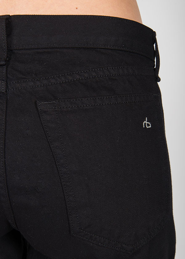 Rag & Bone - Boyfriend Short in Aged Black