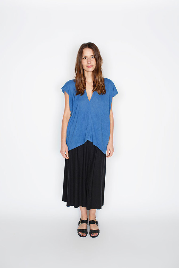 Miranda Bennett Everyday Top, Cotton Gauze in Indigo