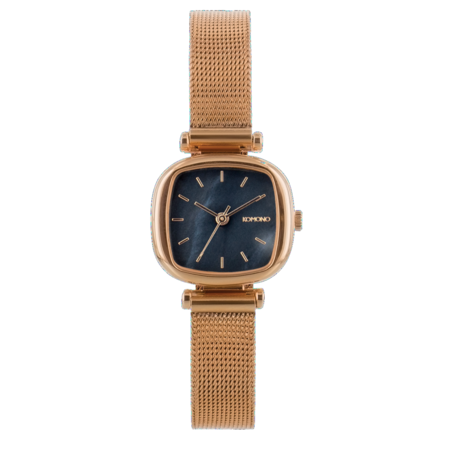 Komono - Moneypenny Watch Royale - Or Rose/Black