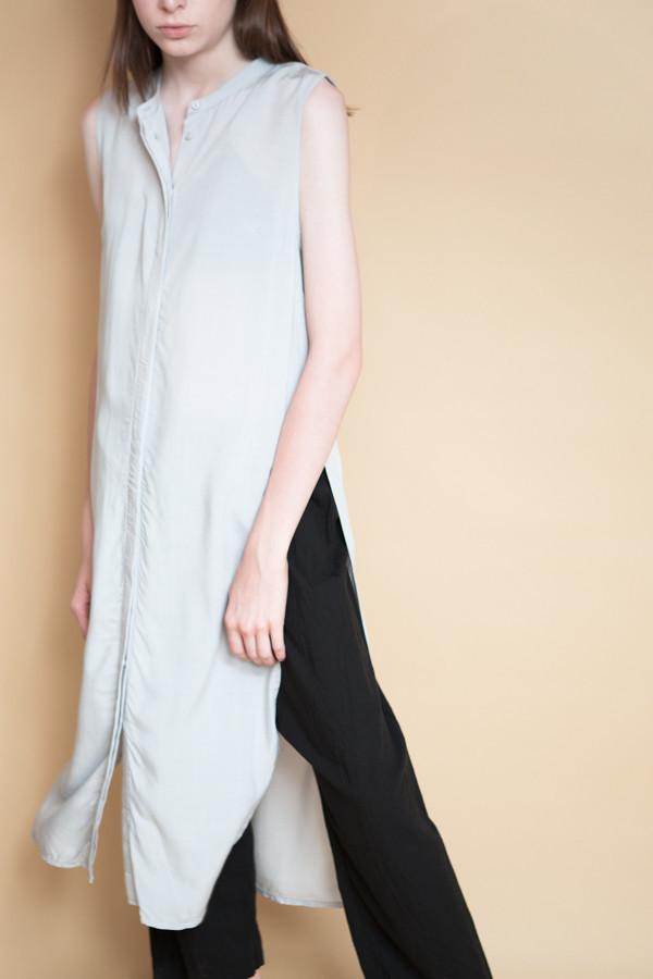 Just Female Marina Long Shirt - Silver