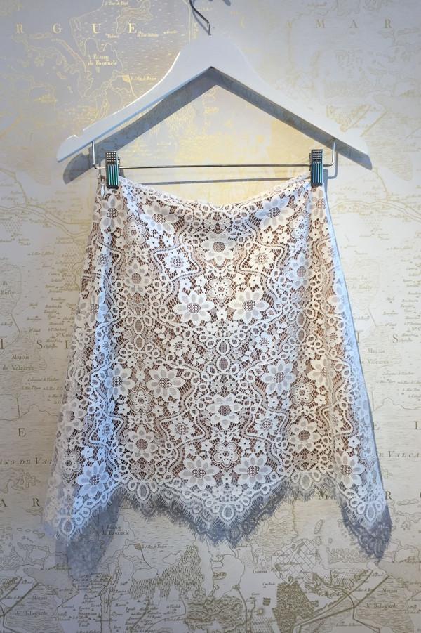 For Love & Lemons 'Rosemary' Lace Skirt