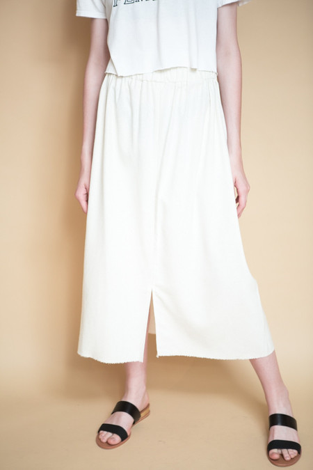 Miranda Bennett Paper Bag Skirt / Natural