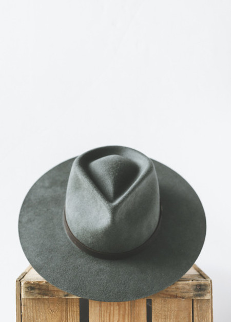 Yellow 108 - Dylan Fedora in Grey