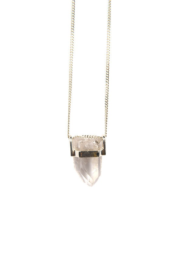 Reason & Madness Jewelry - Clear Quartz Necklace